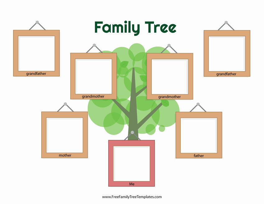 Family Tree Template with Photos New Picture Frame Family Tree Template – Free Family Tree