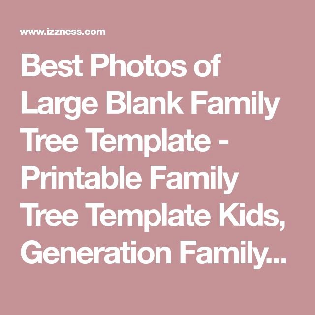 Family Tree Template with Photos Unique Best 25 Family Tree Templates Ideas On Pinterest