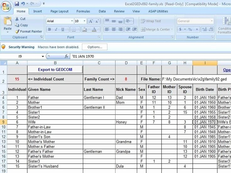 Family Tree Templates Excel Best Of 40 Best Images About Genealogy Excel Spreadsheets On
