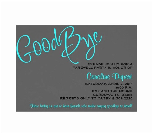 Farewell Party Invitations Templates Awesome 14 Farewell Card Templates Psd Ai