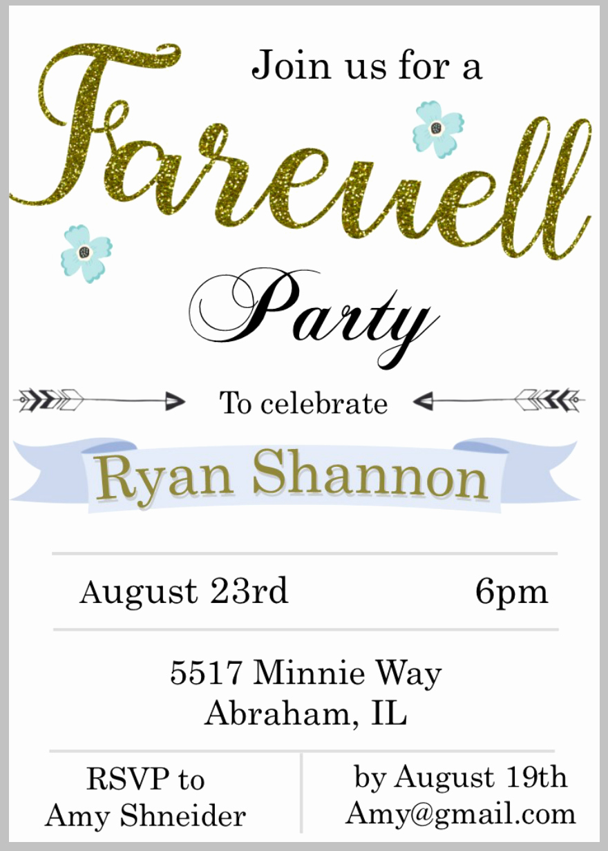 Farewell Party Invitations Templates Awesome 15 Farewell Invitation Designs