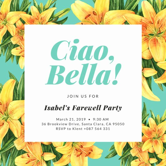 Farewell Party Invitations Templates Awesome Farewell Party Invitation Templates Canva