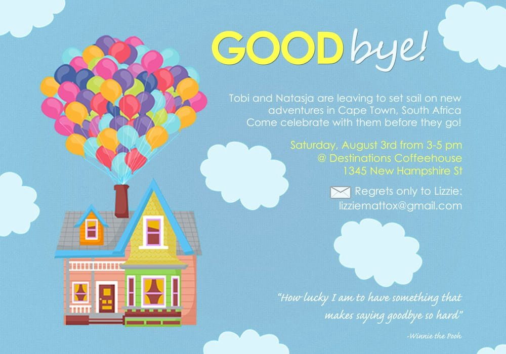 Farewell Party Invitations Templates Beautiful Farewell Party Invitation Template Free