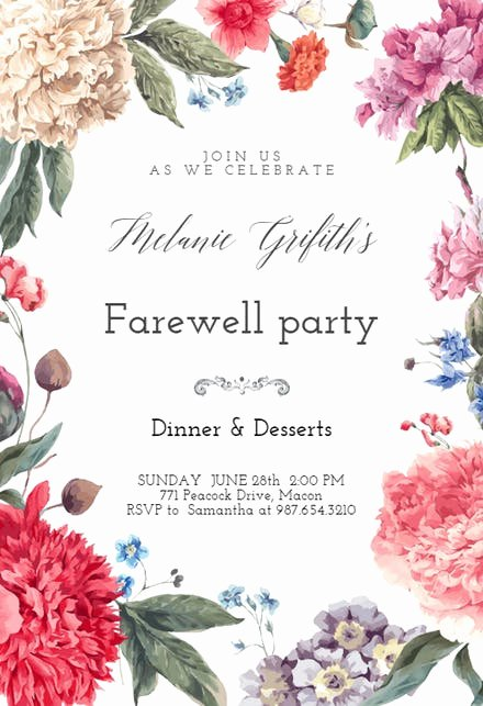 Farewell Party Invitations Templates Beautiful Retirement & Farewell Party Invitation Templates Free