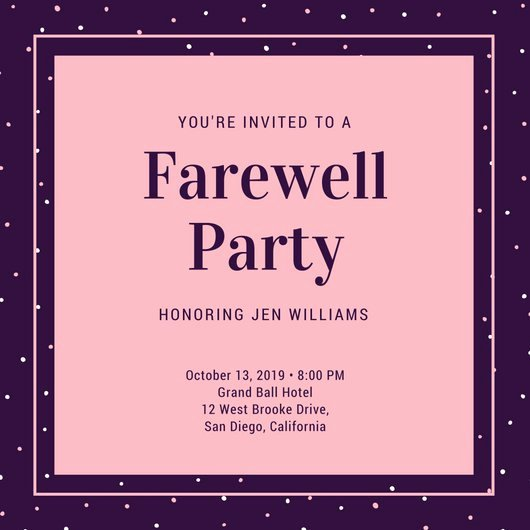 Farewell Party Invitations Templates Elegant Customize 3 999 Farewell Party Invitation Templates