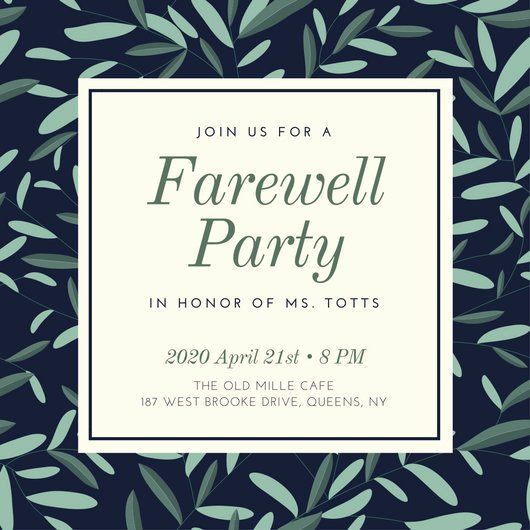 Farewell Party Invitations Templates Fresh Farewell Party Invitation Templates Canva