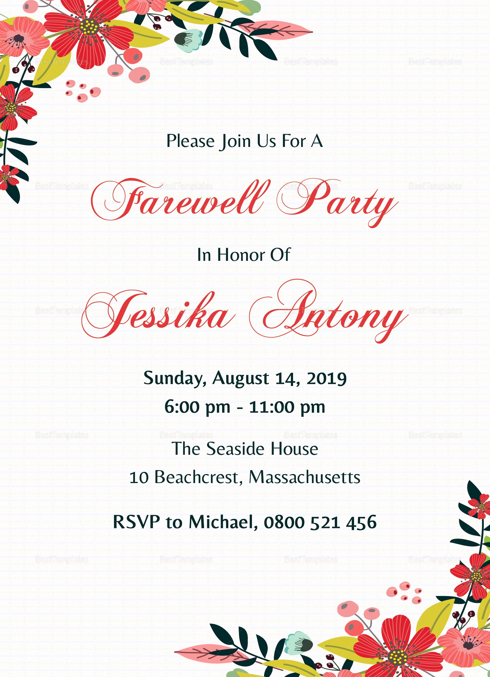 Farewell Party Invitations Templates Inspirational Classic Farewell Party Invitation Design Template In Word