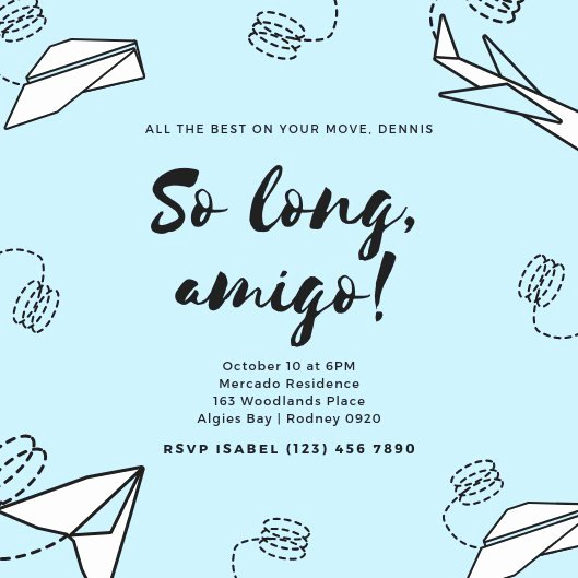 Farewell Party Invitations Templates Inspirational Customize 2 882 Farewell Party Invitation Templates