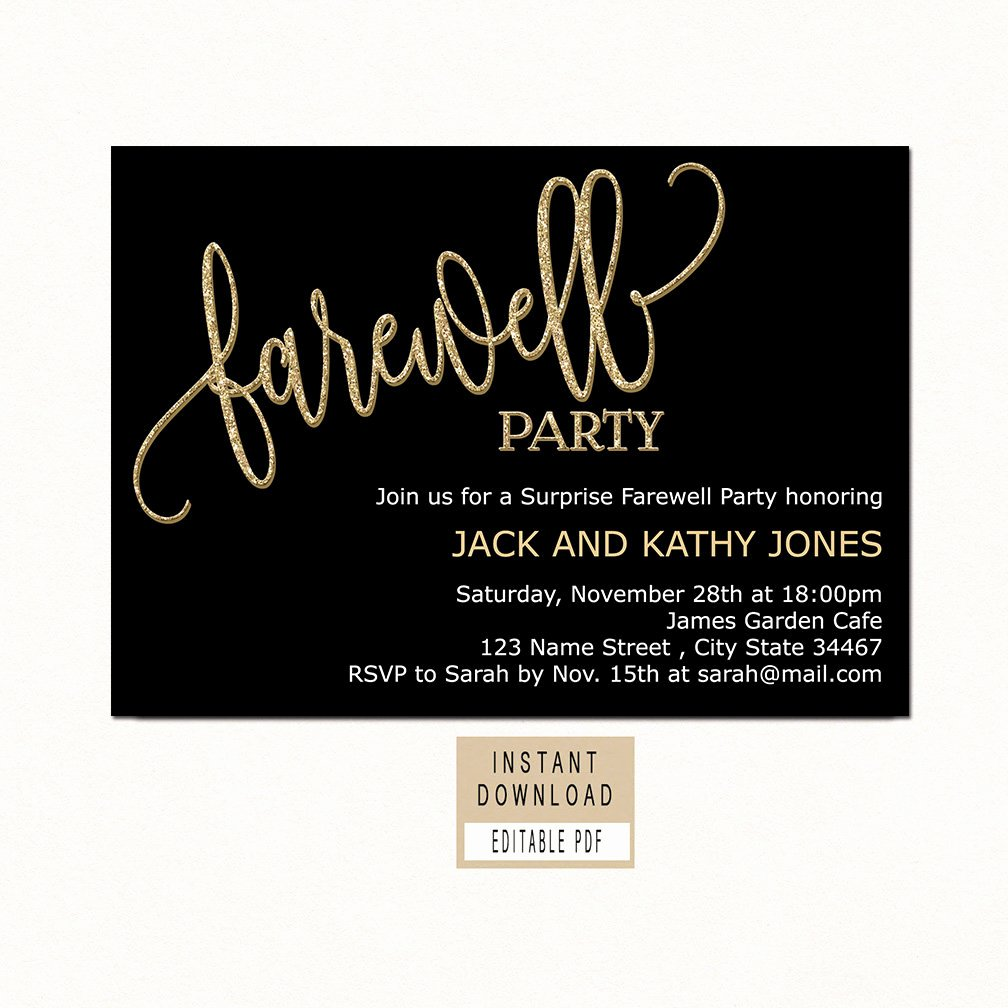 Farewell Party Invitations Templates Inspirational Farewell Invitation Farewell Invitation Template
