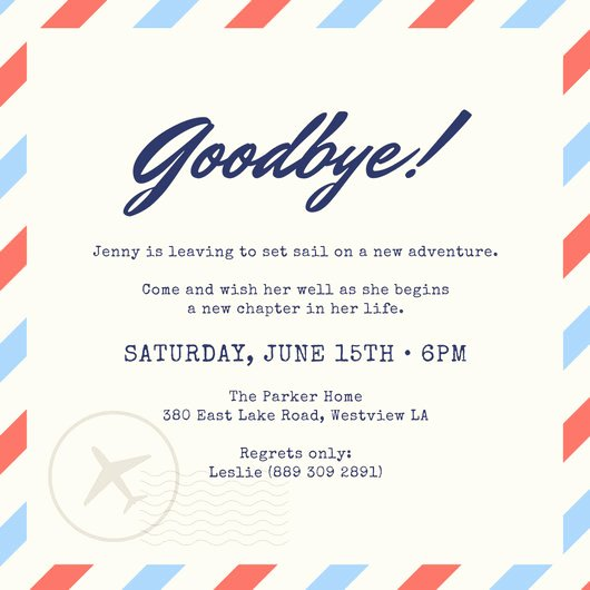 Farewell Party Invitations Templates Inspirational Farewell Party Invitation Templates Canva