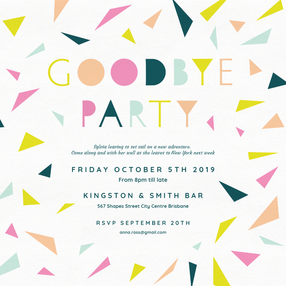 Farewell Party Invitations Templates Lovely Goodbye Party Retirement & Farewell Party Invitation