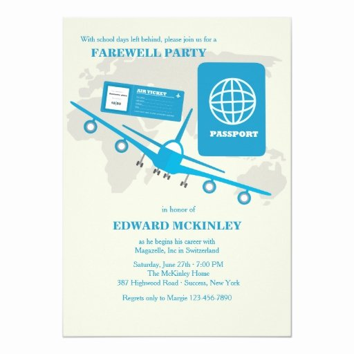Farewell Party Invitations Templates Lovely World Travels Farewell Party Invitation