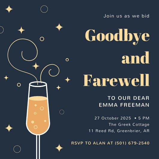 Farewell Party Invitations Templates Luxury Farewell Party Invitation Templates Canva
