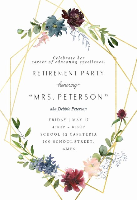 Farewell Party Invitations Templates Luxury Retirement & Farewell Party Invitation Templates Free