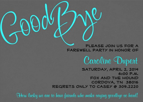Farewell Party Invitations Templates New Farewell Party Invitation Template – 20 Free Psd format