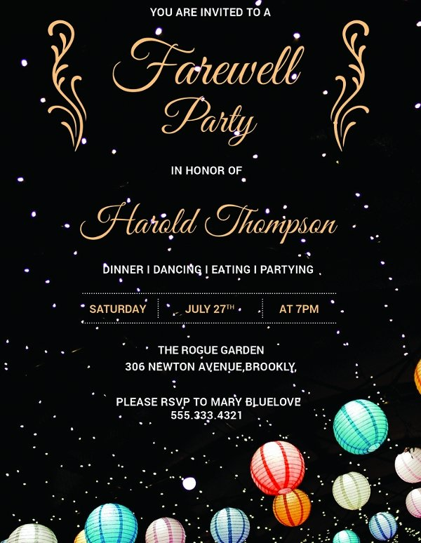 Farewell Party Invitations Templates Unique 26 Farewell Invitation Templates Psd Eps Ai