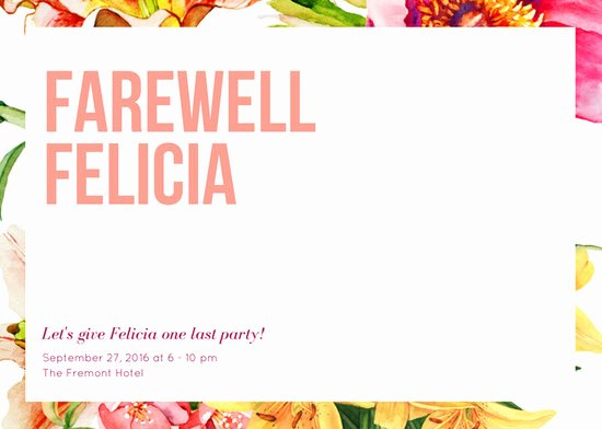 Farewell Party Invitations Templates Unique Customize 3 999 Farewell Party Invitation Templates