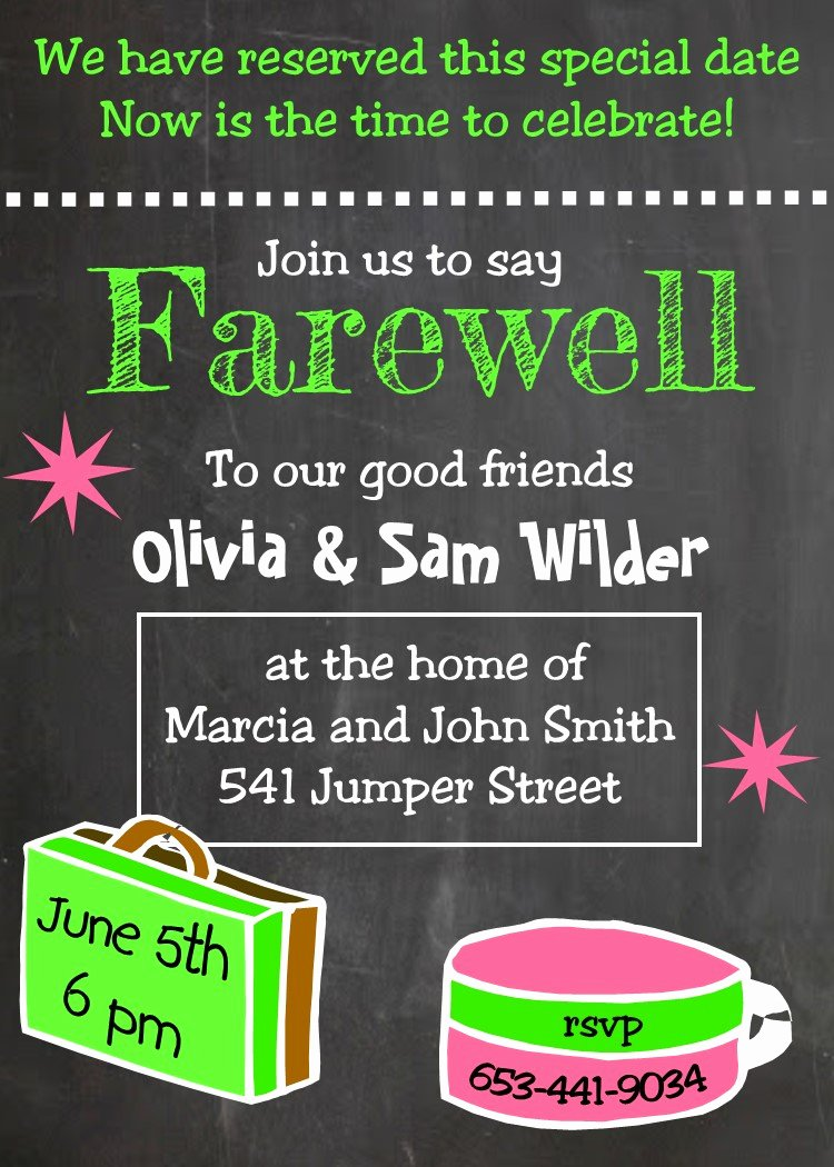 Farewell Party Invitations Templates Unique Going Away Party Invitations New Selections Summer 2019