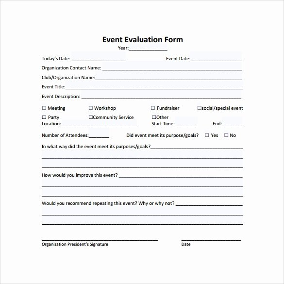 Feedback form Template Word Unique Free 9 event Evaluation Samples In Pdf Word