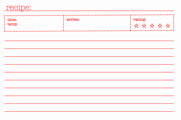 Fillable Recipe Card Template Best Of 14 Free Bridal Recipe Card Printable All Free Template