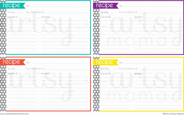 Fillable Recipe Card Template Best Of Free Printable Recipe Cards