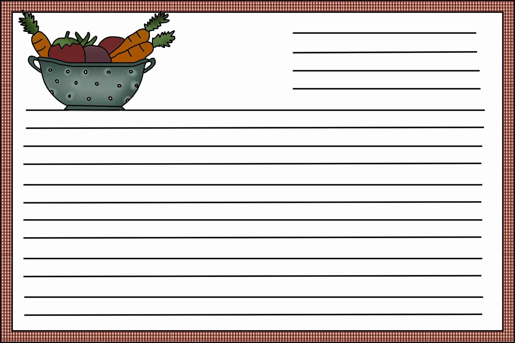Fillable Recipe Card Template Best Of Recipe Card Template