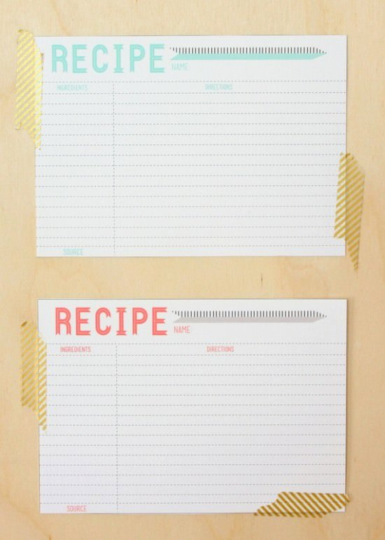 Fillable Recipe Card Template Elegant 40 Recipe Card Template and Free Printables – Tip Junkie