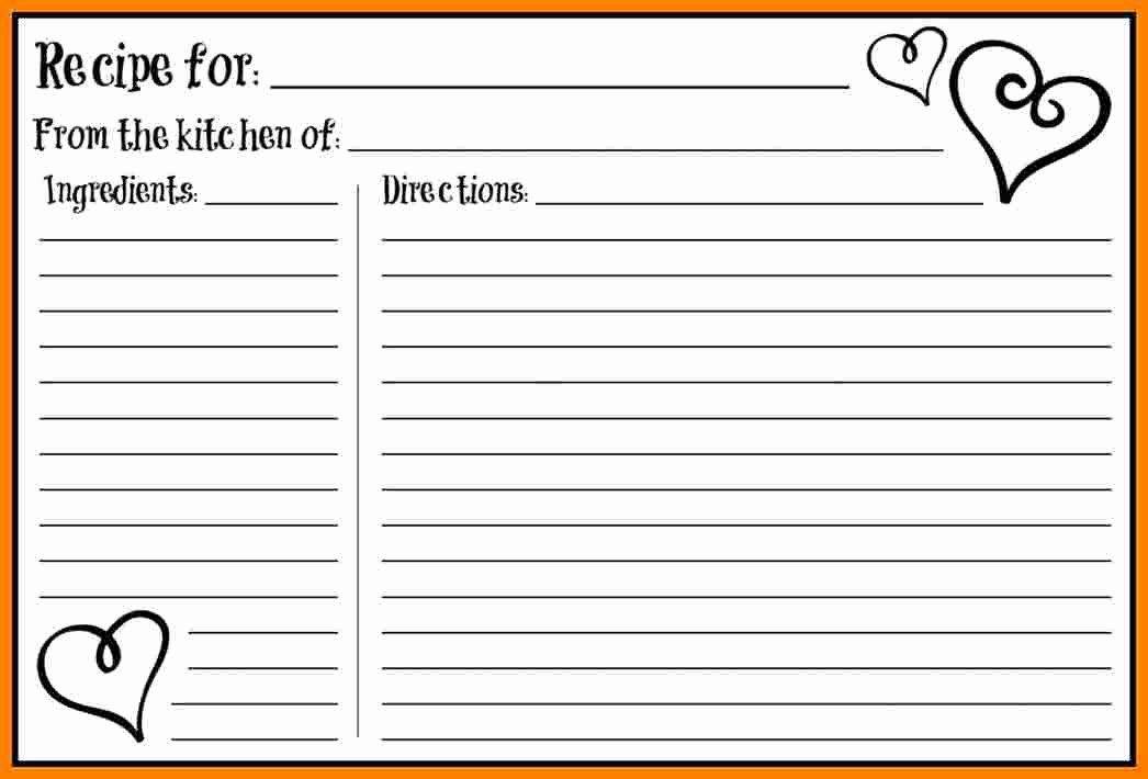 Fillable Recipe Card Template Fresh 7 Fillable Recipe Card Template