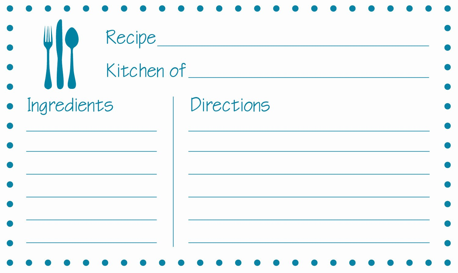 Fillable Recipe Card Template Fresh Free Printable Recipe Cards