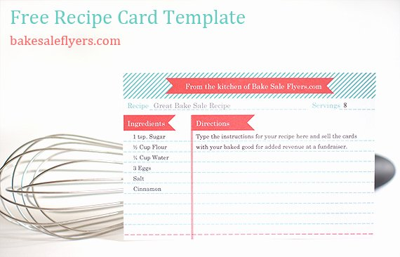 Fillable Recipe Card Template Luxury Bake Sale Flyers – Free Flyer Designs