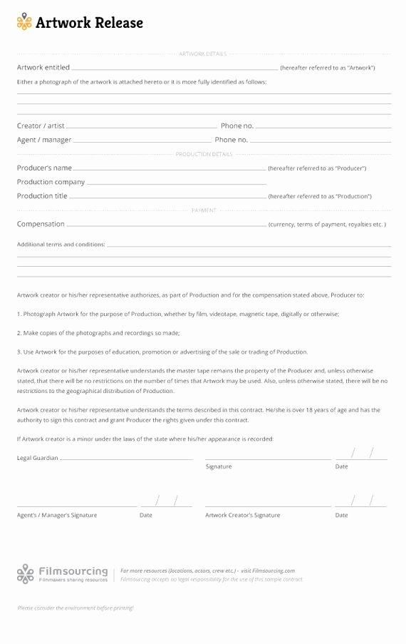 Film Release forms Templates Fresh 19 Best Images About Production Paperwork Templates