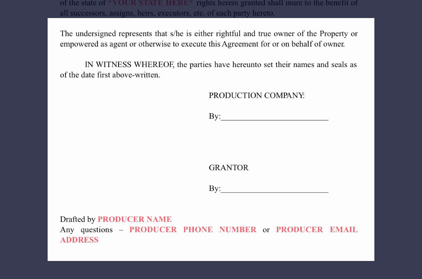 Film Release forms Templates Unique How to Secure Locations Free Location Release form