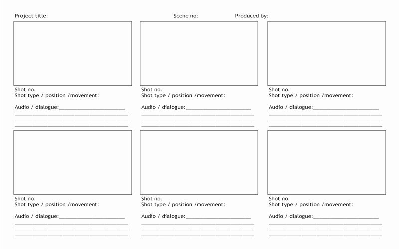 Film Storyboard Template Pdf Best Of 5 Useful Microsoft Excel Templates for In Tv