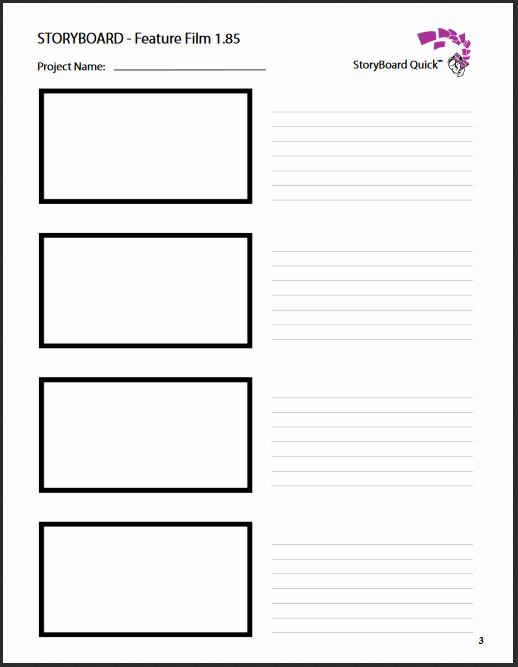 Film Storyboard Template Pdf Best Of Storyboard Templates