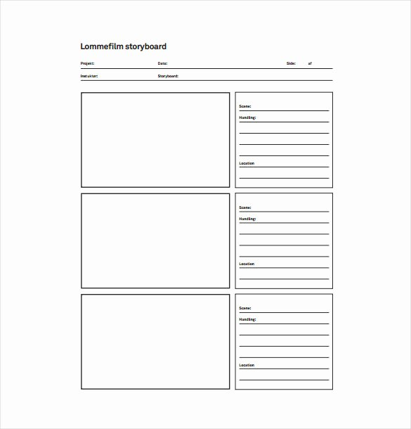 Film Storyboard Template Pdf Elegant 82 Storyboard Templates Pdf Ppt Doc Psd