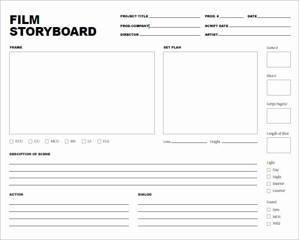 Film Storyboard Template Pdf Fresh 7 Movie Storyboard Templates Doc Excel Pdf Ppt