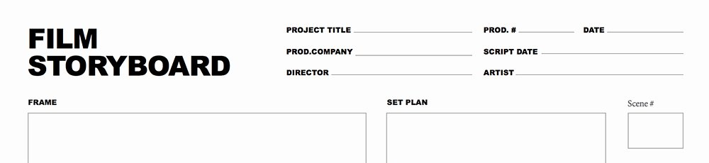 Film Storyboard Template Pdf Fresh Free Storyboard Template for and Video Projects