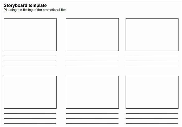 Film Storyboard Template Pdf Fresh Presentation Storyboard Template