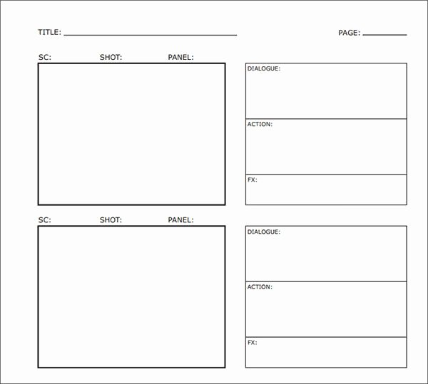 Film Storyboard Template Pdf Fresh Sample Free Storyboard 33 Documents Download In Pdf
