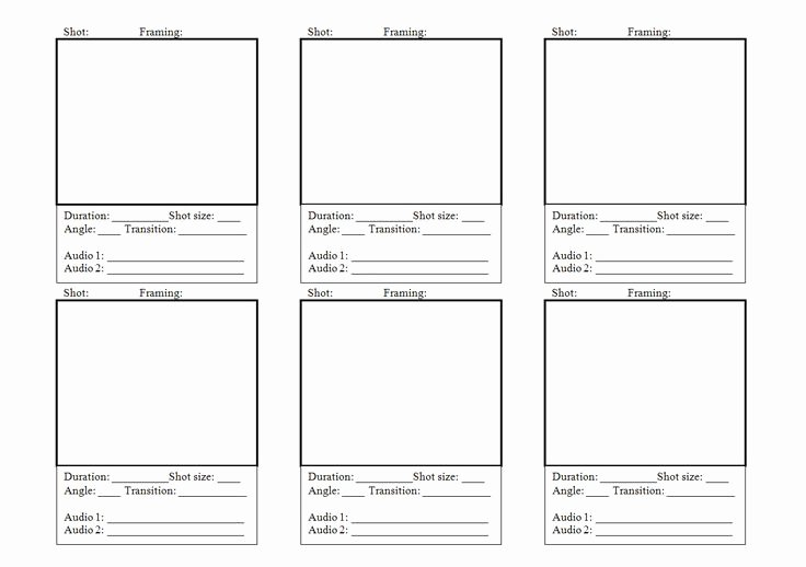 Film Storyboard Template Pdf Inspirational 8 Best Storyboard Template Images On Pinterest
