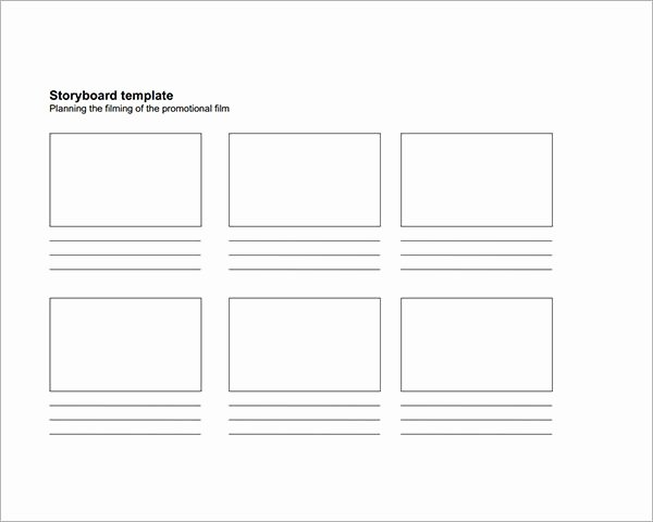 Film Storyboard Template Pdf Inspirational Free 34 Free Storyboard Samples In Pdf Doc