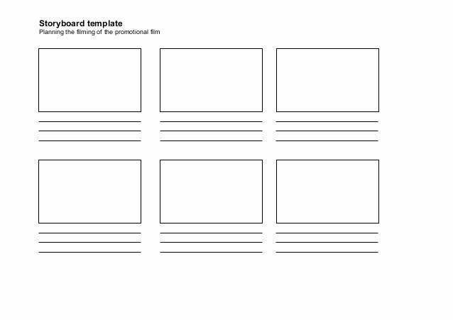 Film Storyboard Template Pdf Inspirational Storyboard Template