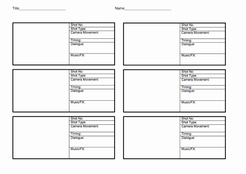 Film Storyboard Template Pdf Lovely Storyboard Template by Lhenshaw2012 Teaching Resources Tes