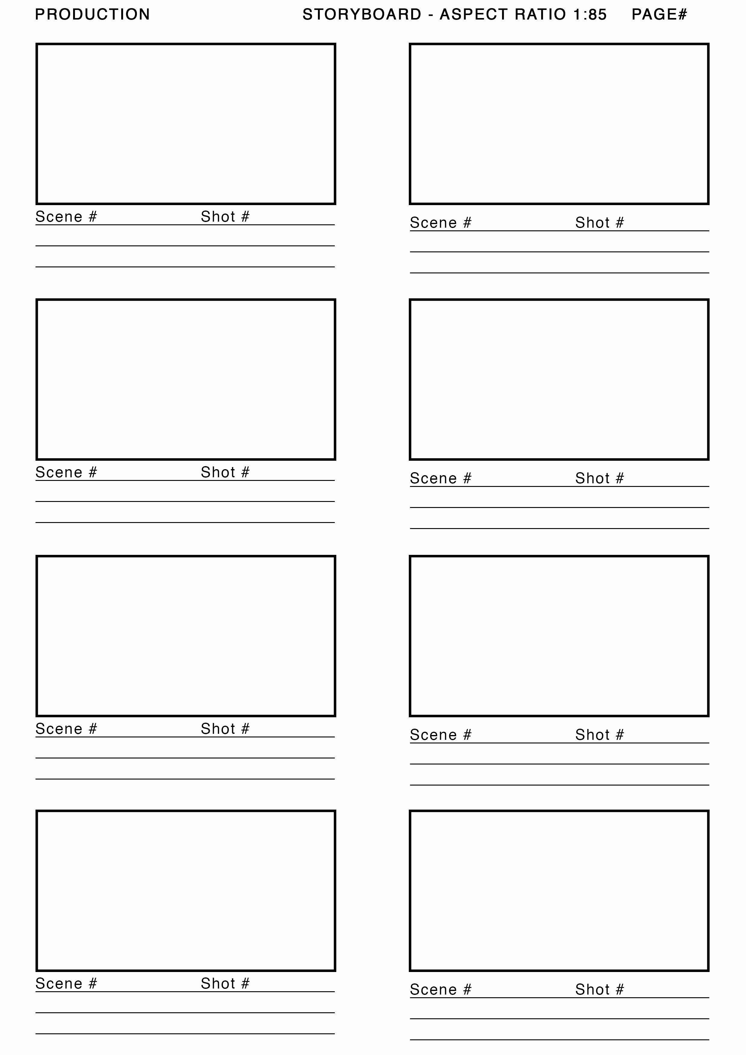 Film Storyboard Template Pdf New 1 85 aspect Ratio Storyboard Template Google Search