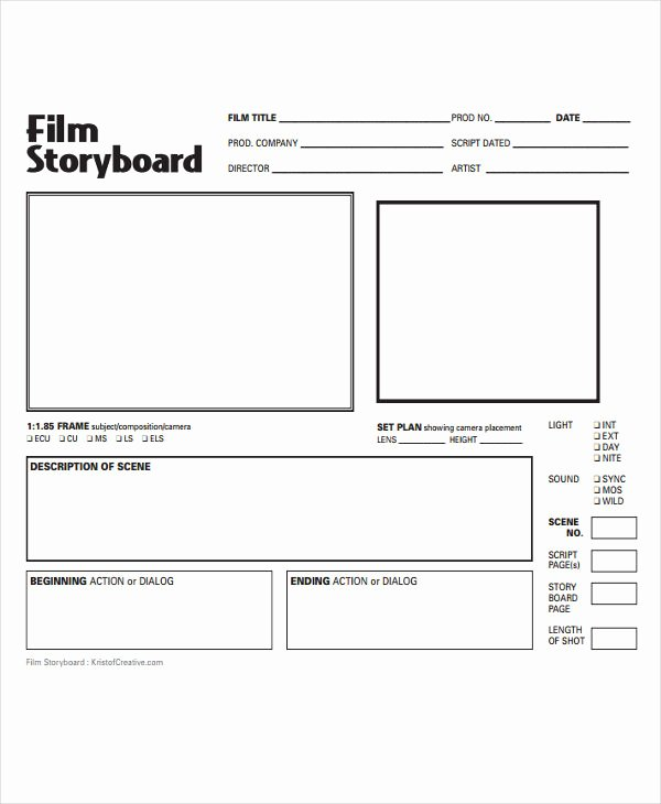Film Storyboard Template Pdf Unique 15 Storyboard Templates
