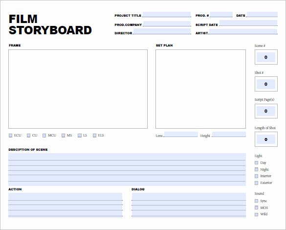 Film Storyboard Template Pdf Unique 7 Movie Storyboard Templates Doc Excel Pdf Ppt