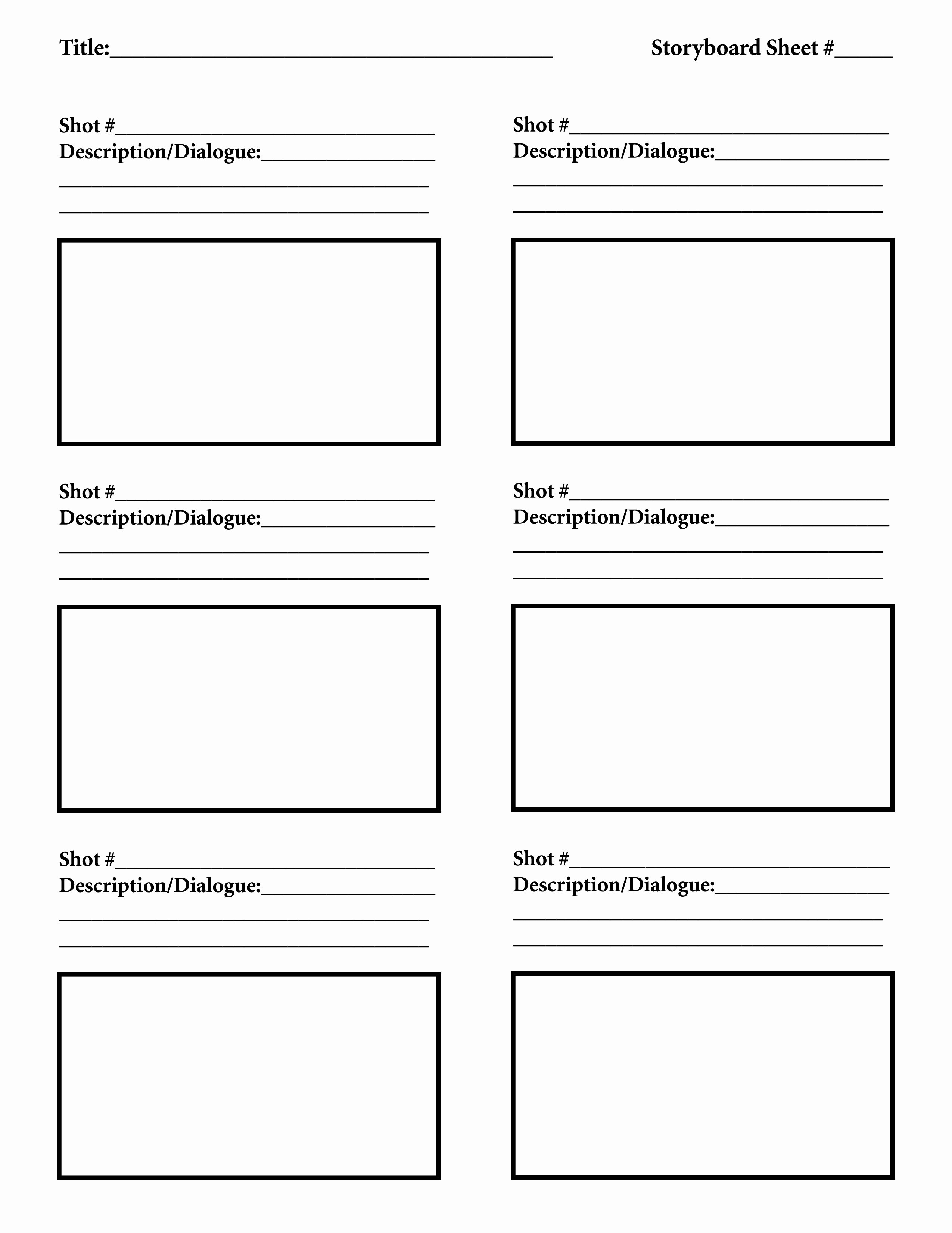 Film Storyboard Template Pdf Unique Download Free Storyboard Template Tutorials In