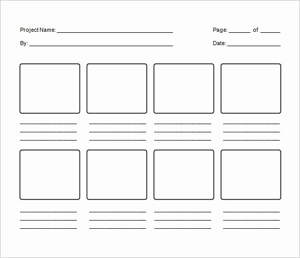 Film Storyboard Template Pdf Unique Storyboard Template