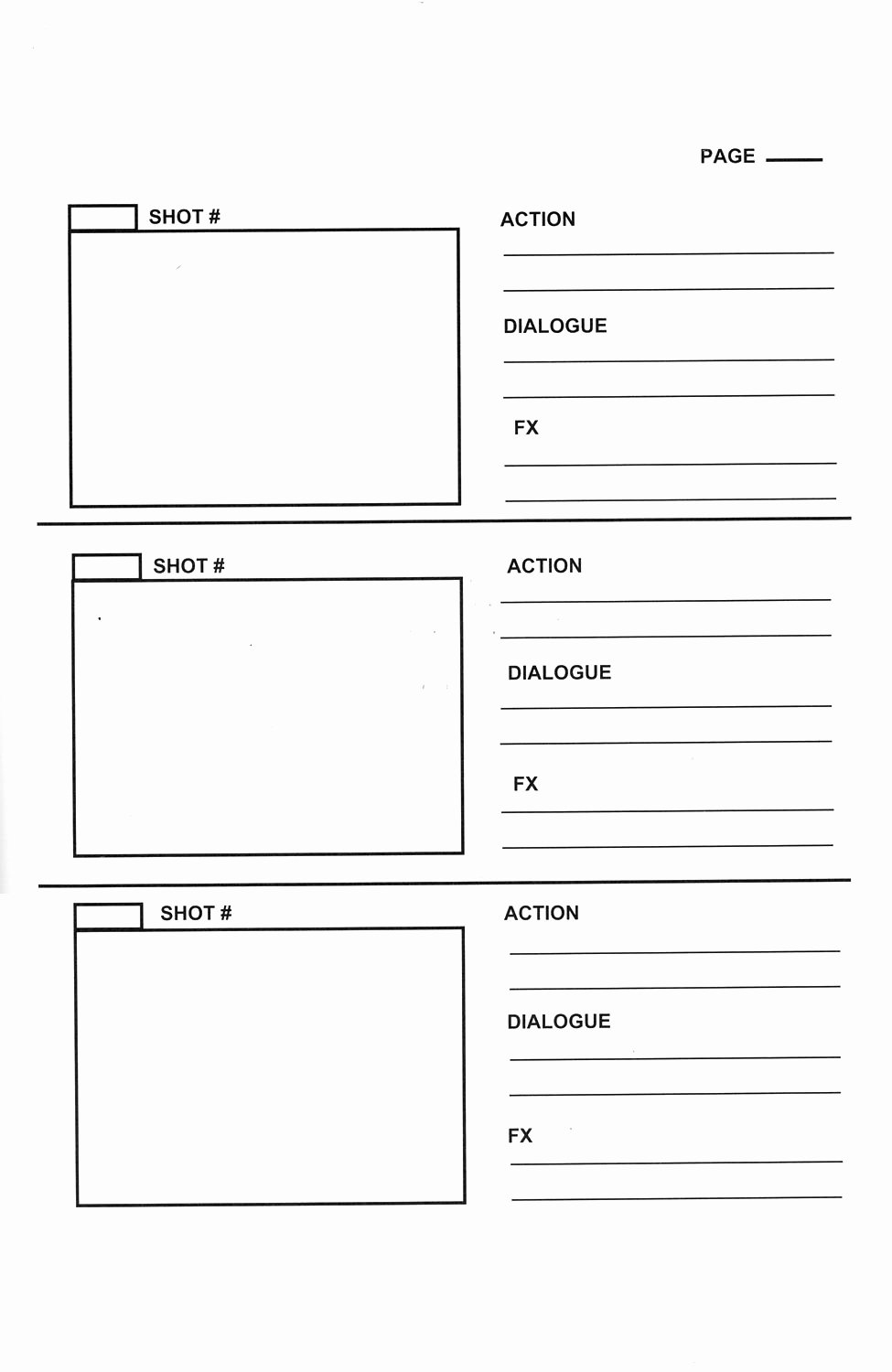 Film Storyboard Template Pdf Unique Storyboard Templates