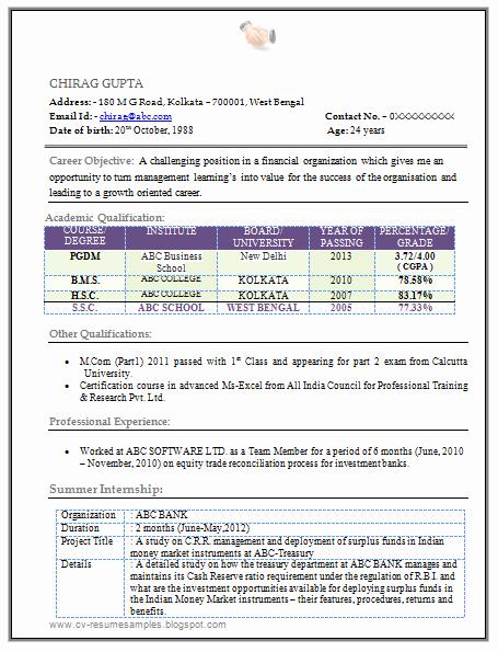 Finance Resume Template Word Elegant Mba Finance Resume Free Download In Word 1
